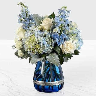 Faithful Guardian™ Bouquet - Blue & White