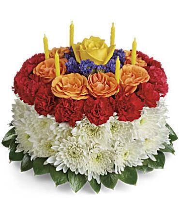 Terrific Your Wish Is Granted Birthday Cake Bouquet Arranged By A Florist Funny Birthday Cards Online Amentibdeldamsfinfo