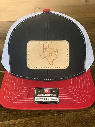 Lubbock Texas Hat- Red, Black, & White