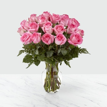 The FTD Smitten Pink Rose Bouquet