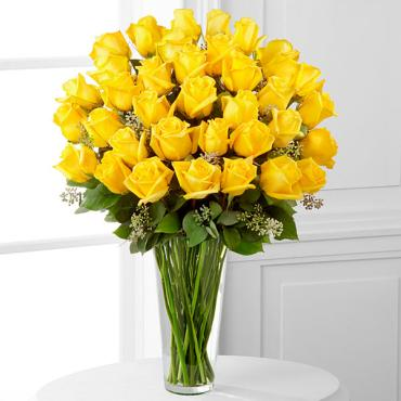 The Yellow Rose Bouquet - 36 Stems