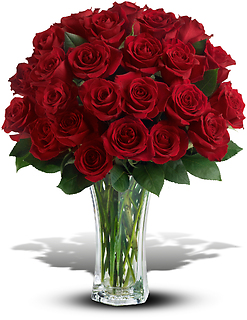 Love and Devotion - 24 Long Stemmed Red Roses