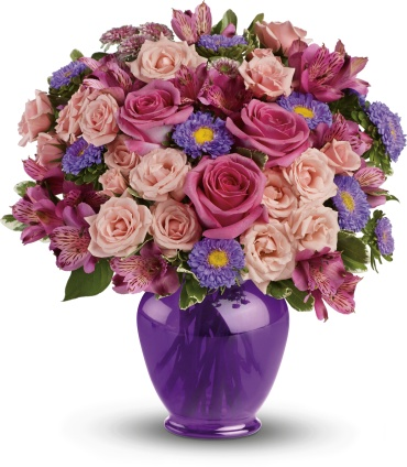 Purple Medley Bouquet with Roses