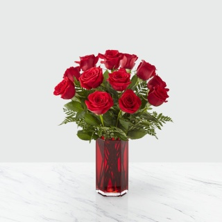 The FTD True Romantic Red Rose Bouquet