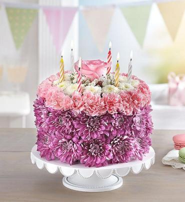 Awesome Birthday Wishes Flower Caketm Pastel Arranged By A Florist In Funny Birthday Cards Online Amentibdeldamsfinfo
