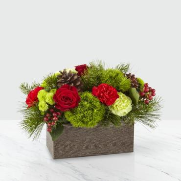The FTD Christmas Cabin Bouquet